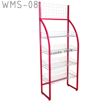 metal basket potato chip rack hl-w029 chewing gum chocolate bar display stand