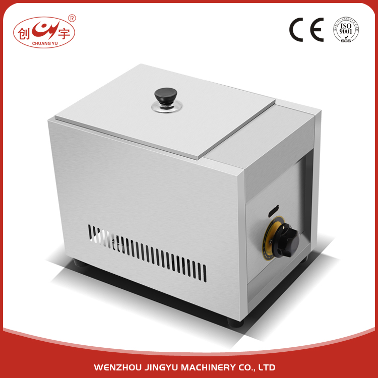 Chuangyu 2017 New Products Patent Automatic Temperature Control Commeciel Gas Fryer With Single Tank