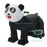 theme park zoo animal ride plush panda electric ride on cars bettery operated
