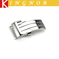 20mm sliver deployment 316L Stainless Steel watchband clasp leather wrist watch buckle wholesale