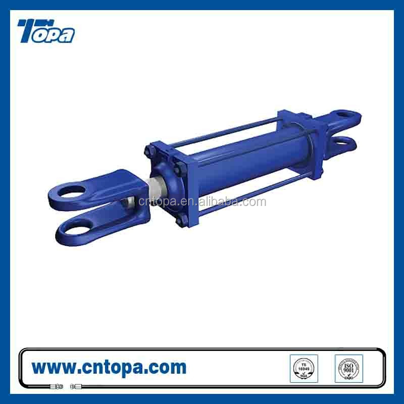 Tie rod large bore 2 way hydraulic cylinder hydraulic