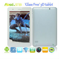 best selling 3d tablet pc allwinner A20 dual core 7 inch 1280*800 IPS 1G DDR WIFI 3G android 4.2 naked eye 3d tablet S730+