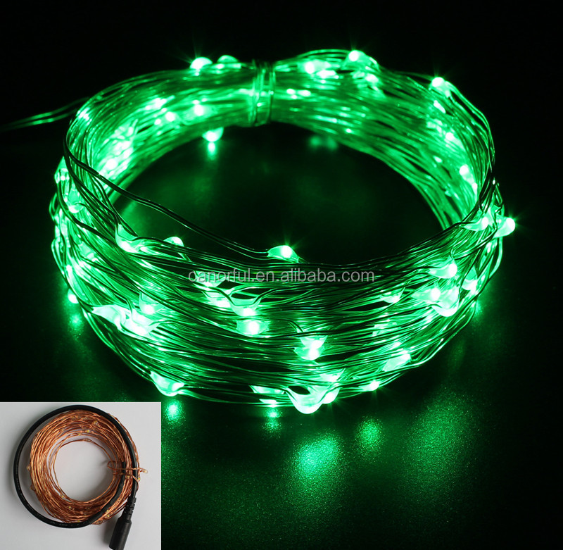 Canorful Green Newly Christmas Tree Toppers DC LED String Lights