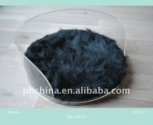 PE-227 Clear Acrylic Pet Bed With Feather Cushion