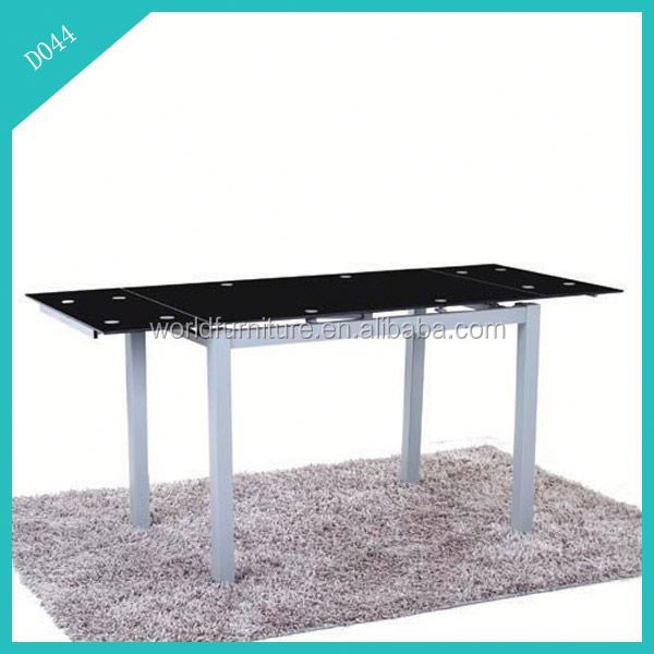 expanding low price black white lacquer dining table