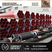 New design Black Powder Coated Galvanized Steel Pipe made in China