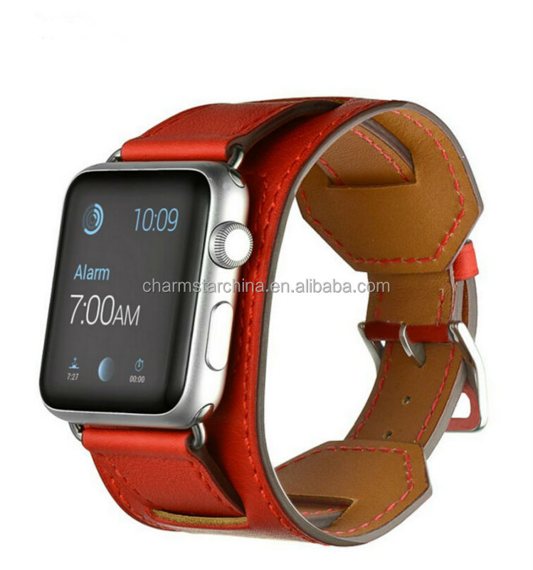 New Arrival Leather Band Bracelet Cuff Wrist Watch Band For Apple Watch ,for Apple Watch Cuff Leather Band