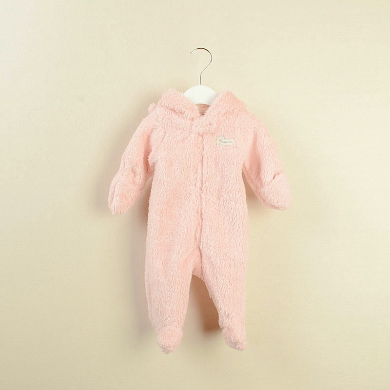 R&H pink polar fleece windproof high quality baby animal infants costumes