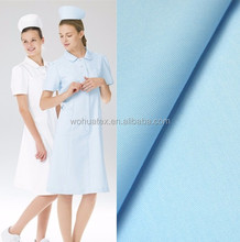 High Quality TC White dyed cotton nurse fabric for medical uniform