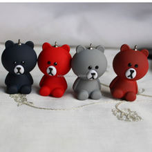 Bear Charms Assorted Rubber Coated Colors Acrylic Bears Pendant Animal Charms Cute Nature Bears For Jewelry Making