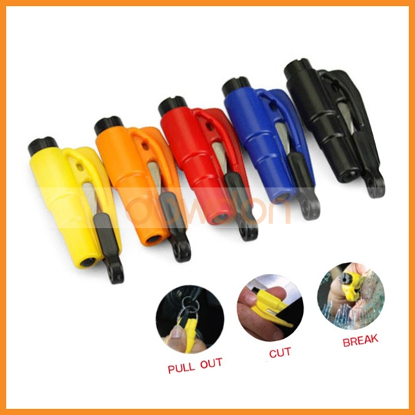 3 in 1 Emergency Mini Safety Hammer Auto Car Window Glass Breaker Seatbelt Cutter Rescue Hammer Car Lifesaving Escape Tool