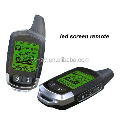 two way motorcycle alarm system with LCD screen remotes