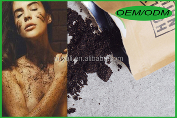 Factory Manufacture Organic Coconut Coffee Body Scrub for acnes, spider veins & cellulite
