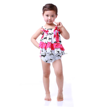 Children boutique clothing animal print girls fall boutique outfit baby bodysuits plain red baby rompers