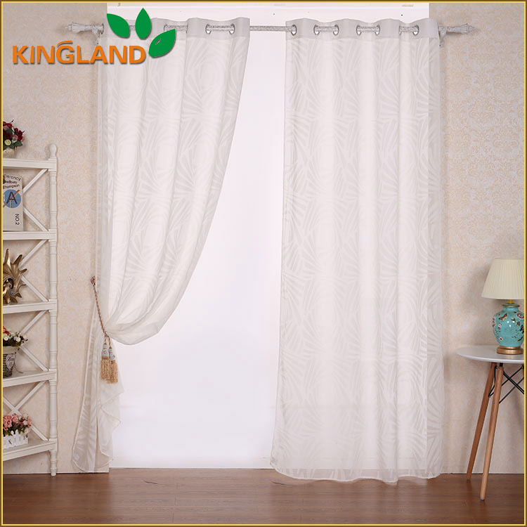 Modern Home Textile polyester cotton burnout fancy window curtain