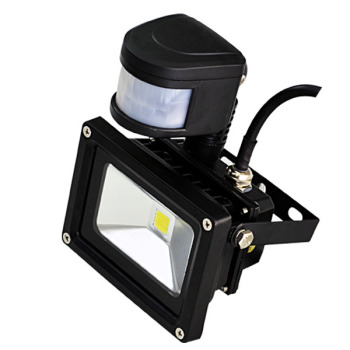 weatherproof outdoor human sensor 10w pir led flood light