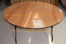 Dia 60'' Round Plywood Folding Banquet Wedding Table