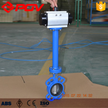 long stem butterfly valve with airpowered cylinder actuator 2''