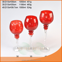 red martini wine glass vase for centerpiece
