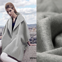 Shallow dark grey high-end cashmere coat fabrics imported high-grade clothing. Snow wool fabric