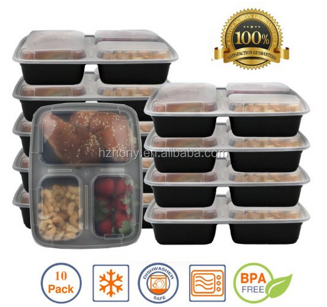 bento lunch boxes restaurant food storage portion control 8pk buy mixed meal prep. Black Bedroom Furniture Sets. Home Design Ideas