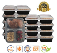 Bento Lunch Boxes / Restaurant Food Storage - Portion Control - 8pk
