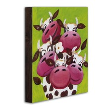 Dining room sets wooden wall cow paintings artists