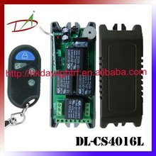 4CH 12VDC RF receiver circuit board 433Mhz