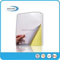 self adhesive matte label paper with hot melt adhesive