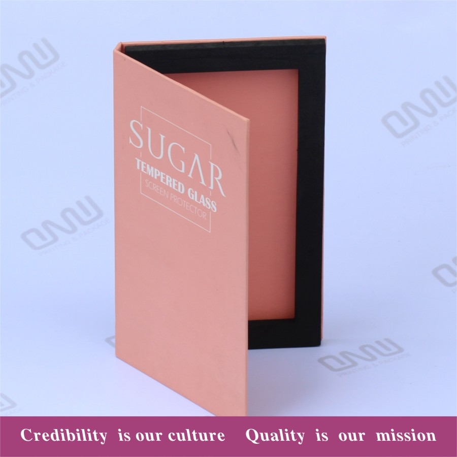 Professional OEM phone film custom retail screen protector packaging paper box for tempered glass