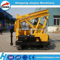 PV construction earth screw anchors ground screw pile driving machine