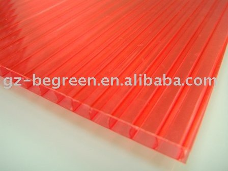 hard plastic twin-wall hollow polycarbonate sheets building material pc sheet/board