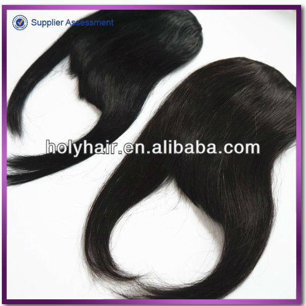 2013 Best selling remy hair clip on bangs 100 human hair bangs