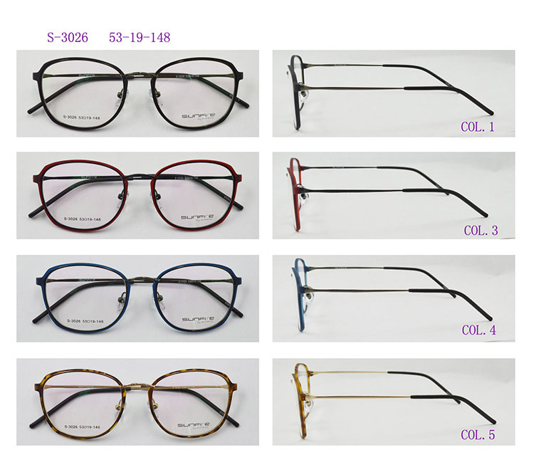correcting spectacles frame for myopia, round frame eye glasses