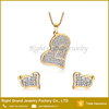 2016 New Fashion Gold Jewelry Set 316L Surgical Stainless Steel for Ear and Neck