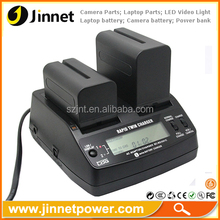 Professional NP-F Dual Battery Charger for Sony NP-F550 NP-F570 NP-F750 NP-F770 NP-F960 NP-F970
