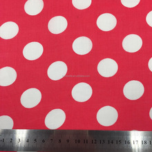 Circle dot digital print pure ramie fabric for garment