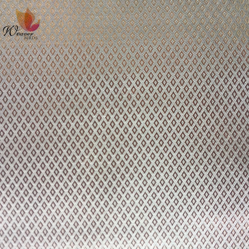 100% Polyester Fabric Overcoat and Garment Fabric With Diamond Lattice Jacquard Lining