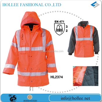300D oxford with PU coating 3 in 1 winter jacket