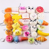 High quality stress release squishy Kawaii 20pcs/set PU Soft squishy slow rising toys