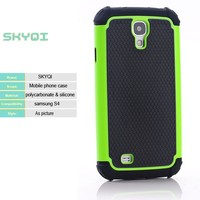 2 in 1 football skin PC silicone hybrid slim armor shockproof mobile phone case cover for Samsung Galaxy S4 S4 mini