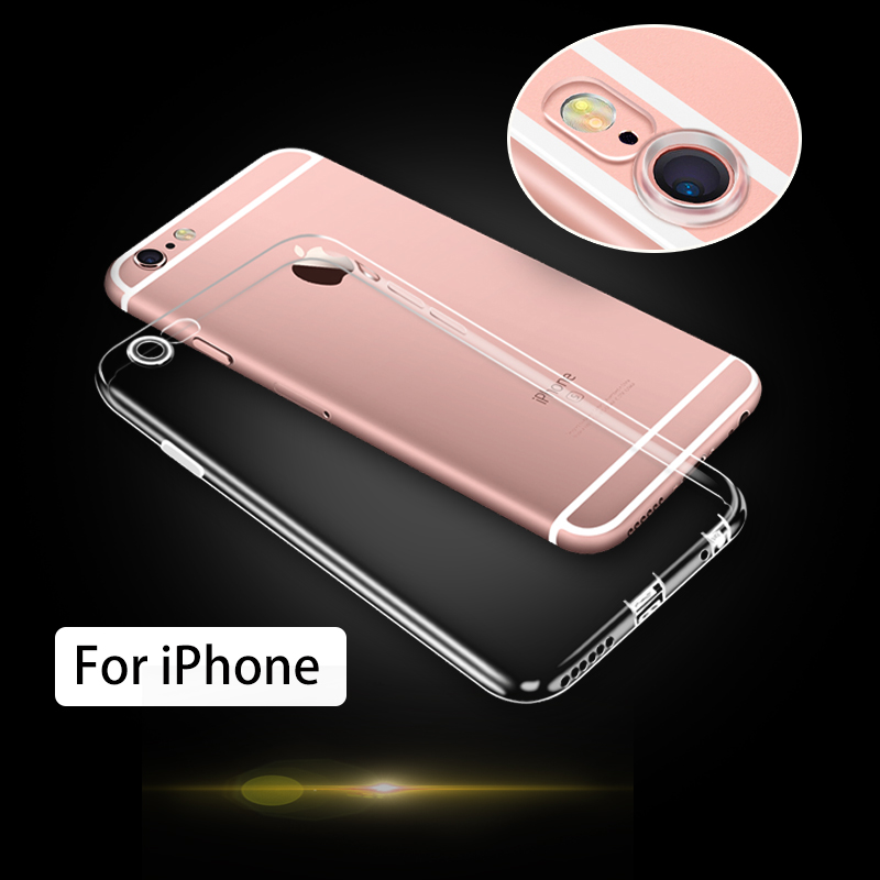 2017 New products mobile phone accessories crystal TPU waterproof case for iphone 6 case and for iphone 7 case