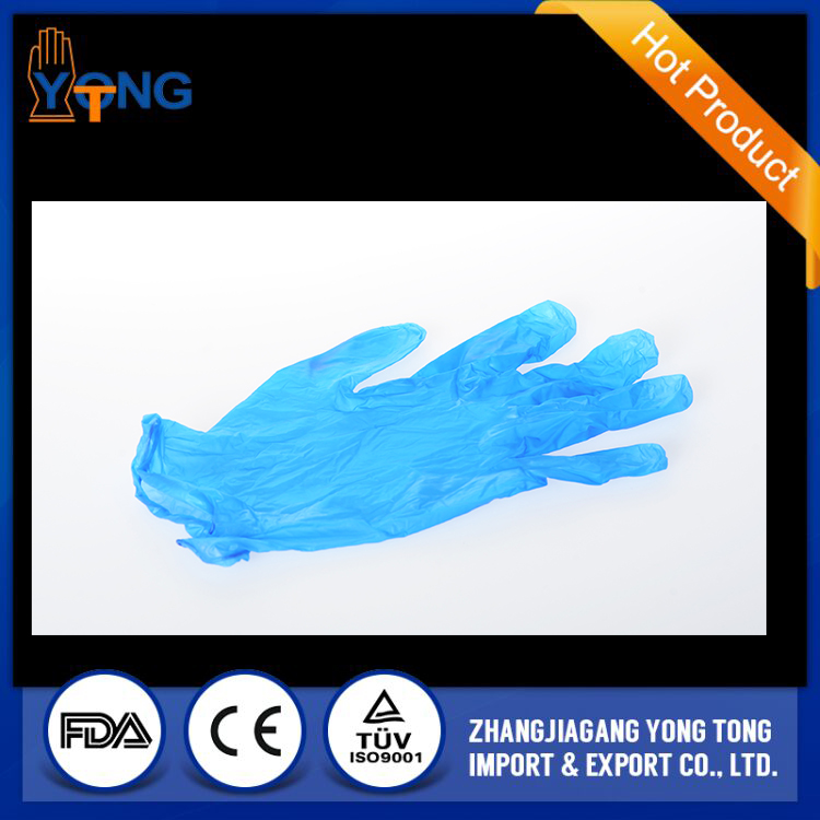 China lightly powdered disposable vinyl gloves supplier