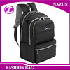 2016 new trendy designer customized fashion lady nice fashionable black polyester solid color school backpack bags
