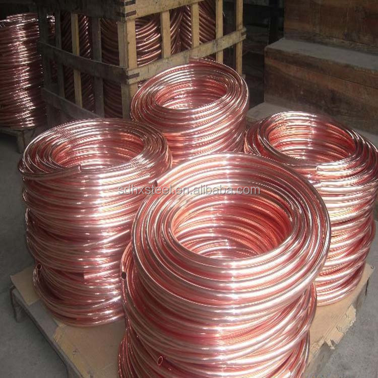 Hot selling bulk copper capillary tube pipe Air conditioner copper coil pipe