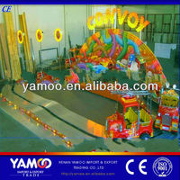 China Alibaba Cartoon children rides for sale Luxury Convoy Track Train/Mountain Train Rides/Mountain Car Kid Toy Rides