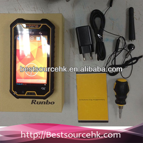 "Original Runbo X6 phone IP67 Dustproof Waterproof Outdoor Smartphone 5.0""MTK6589-T quad-core 1.5G"