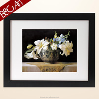 2-Z...(5542) Competitive Price Traditional White Flowers Large Mordern Canvas Painting