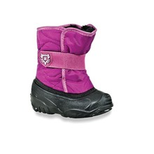 Hangzhou Pink Nylon Fabric Fashion Kids Cheap Snow Boots with PVC sole