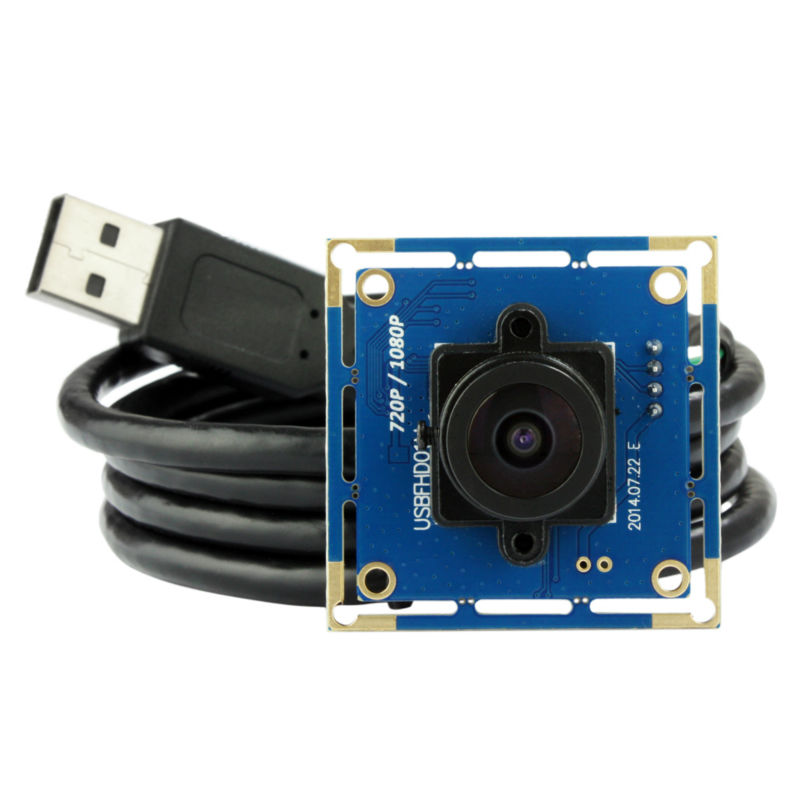 1080p Full HD MJPEG 30fps/60fps/120fps High Speed CMOS Wide Angle Mini CCTV Android Linux UVC Webcam USB Camera Module